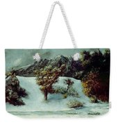 Winter Landscape With The Dents Du Midi Weekender Tote Bag by Gustave Courbet