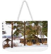 Winter Log Cabin 3 - Paint Weekender Tote Bag