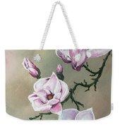 Winter Magnolia Blooms Weekender Tote Bag