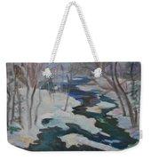 Winter Mill Stream  Weekender Tote Bag