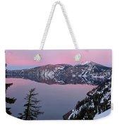 Winter Mirror At Crater Lake Weekender Tote Bag