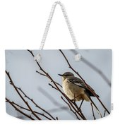 Winter Mockingbird Weekender Tote Bag