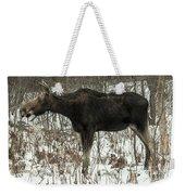 Winter Moose Weekender Tote Bag