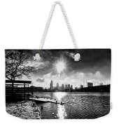 Winter Morning On Schuylkill  Weekender Tote Bag