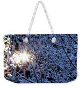 Winter Morning Sunrise Weekender Tote Bag