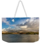 Winter Mountains Weekender Tote Bag