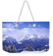 Winter Mountains Weekender Tote Bag