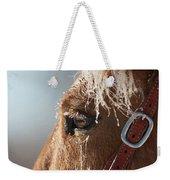 Winter Mustang Eye Weekender Tote Bag