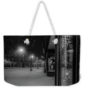 Winter Night On Main Weekender Tote Bag