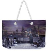 Winter Night Scene Weekender Tote Bag