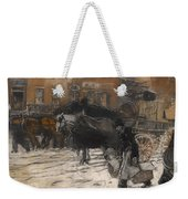 Winter On 21st Street - New York Weekender Tote Bag