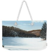Winter On An Ontario Lake  Weekender Tote Bag
