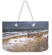 Winter On Cape Cod Sandy Neck Beach Weekender Tote Bag