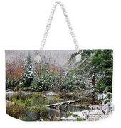 Winter On The Beaver Pond Weekender Tote Bag