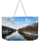 Winter On The Cedar Weekender Tote Bag