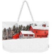Winter On The Farm Enfield Weekender Tote Bag