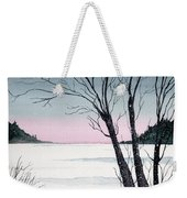 Winter On The Lake Weekender Tote Bag