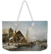 Winter On The Rhine Weekender Tote Bag
