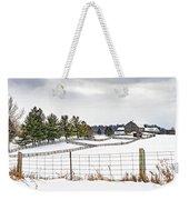 Winter Ontario Farm 3 Weekender Tote Bag