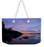 Winter Pastel Sundown Serenity Weekender Tote Bag