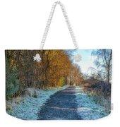 Winter Path In Scotland Weekender Tote Bag