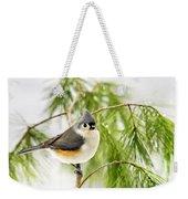 Winter Pine Bird Weekender Tote Bag