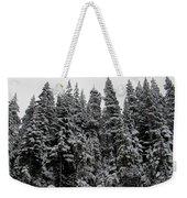 Winter Pine Spires Weekender Tote Bag