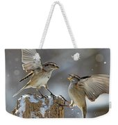 Winter Quarrel Weekender Tote Bag