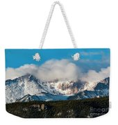 Winter Receding On Pikes Peak Weekender Tote Bag