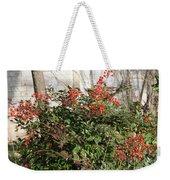Winter Red Berries Weekender Tote Bag