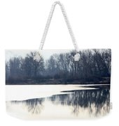 Winter Reflection On The Yakima River Weekender Tote Bag