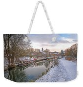Winter Reflections On The River Weekender Tote Bag