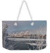 Winter River Light Weekender Tote Bag