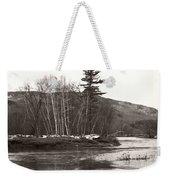 Winter River Number One Weekender Tote Bag