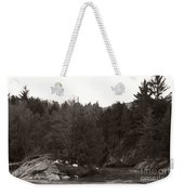 Winter River Number Two Weekender Tote Bag