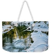 Winter River Reflections - Yellowstone Weekender Tote Bag