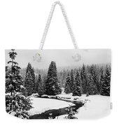 Winter Riverscape Weekender Tote Bag