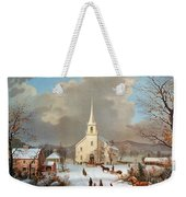 Winter Scene, C1875 Weekender Tote Bag