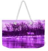 Winter Scene In Violet Weekender Tote Bag
