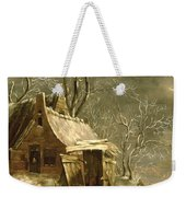 Winter Scene Weekender Tote Bag