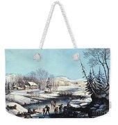 Winter Scene: Morning 1854 Weekender Tote Bag