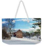 Winter Scene On A Pennsylvania Farm Weekender Tote Bag