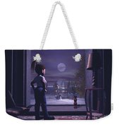 Winter Scene Threw A Window Weekender Tote Bag