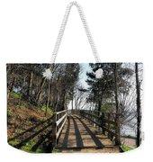 Winter Shadows At The Bridge Weekender Tote Bag