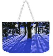 Winter Shadows Weekender Tote Bag