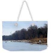 Winter Shoreline Walk  Weekender Tote Bag