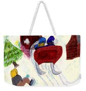 Winter Sleigh Ride Through The Tunnel Weekender Tote Bag