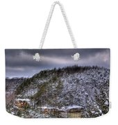 Winter Snow Storm Weekender Tote Bag