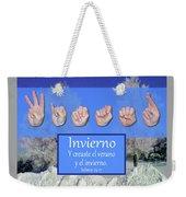 Winter Spanish Weekender Tote Bag