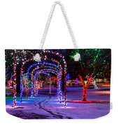 Winter Spirit At Locomotive Park Weekender Tote Bag